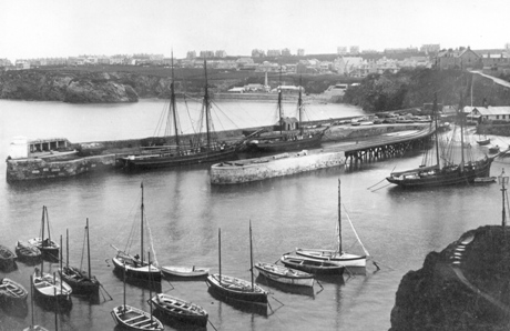 Newquay Harbour circa 1915