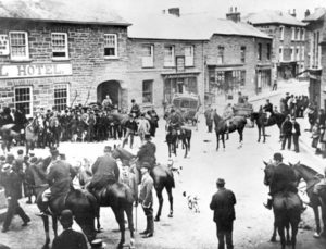 Central Square circa 1900 hunting party
