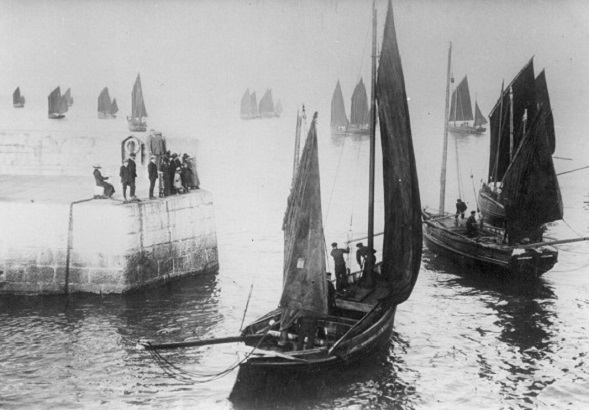 Herring Boats Leaving Harbour